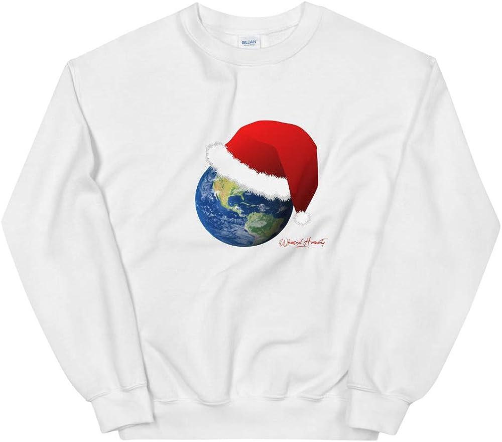 Christmas Santa Earth Holiday Unisex Sweatshirt