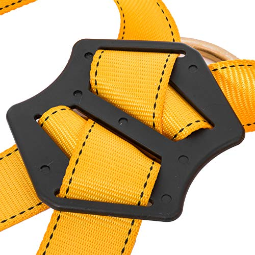 Happybuy Construction Safety Harness Fall Protection Full Body Safety Harness with 3 D-Rings,Belt and Additional Padding (Yellow with Belt) by Happybuy (Image #7)