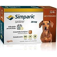 Simparic Antipulgas Cães 5.1 a 10kg 3 Comprimidos 20mg