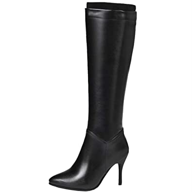 100% quality outlet official site Artfaerie Womens High Heel Knee High Boots Stiletto Heels Side ...