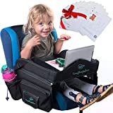 Kids Travel Tray for Car Seat - Makes Traveling with Toddlers Easier, Sturdy, Lightweight Carseat Activity Table, for Strollers or Airplane + Includes BONUS 30 Downloadable Fun Activities New Version