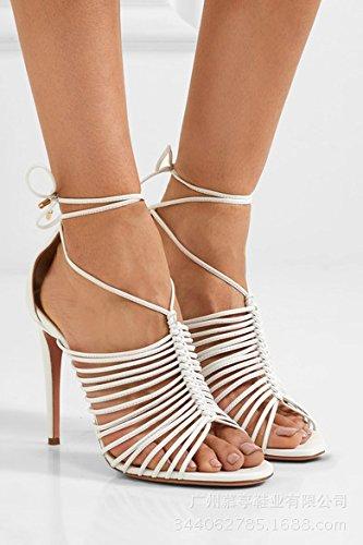 de del correa sandalia la calzado Blanco White ftSTqa