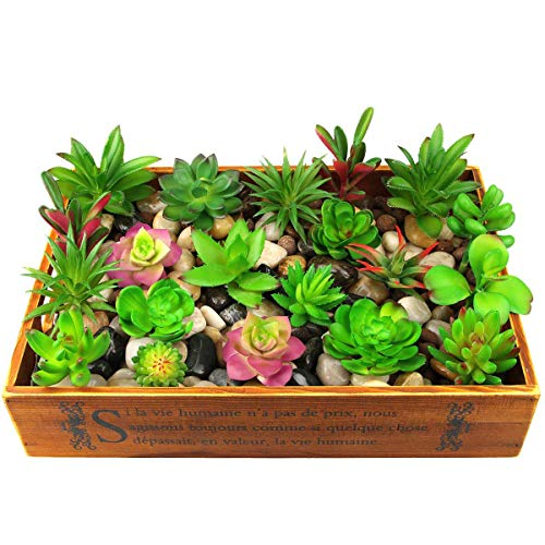Dreampark Artificial Succulent Plants, 18PCS Mini Fake Succulents Plants for Home Decor DIY Garden Decorations Indoor Pack of 18 Unpotted (Small Size)