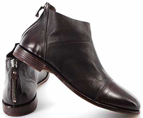 Leder Dunkel BUFALO Stiefeletten Schuhe Italy CC Braun Herren MOMA Made 22806 in OSXYnq