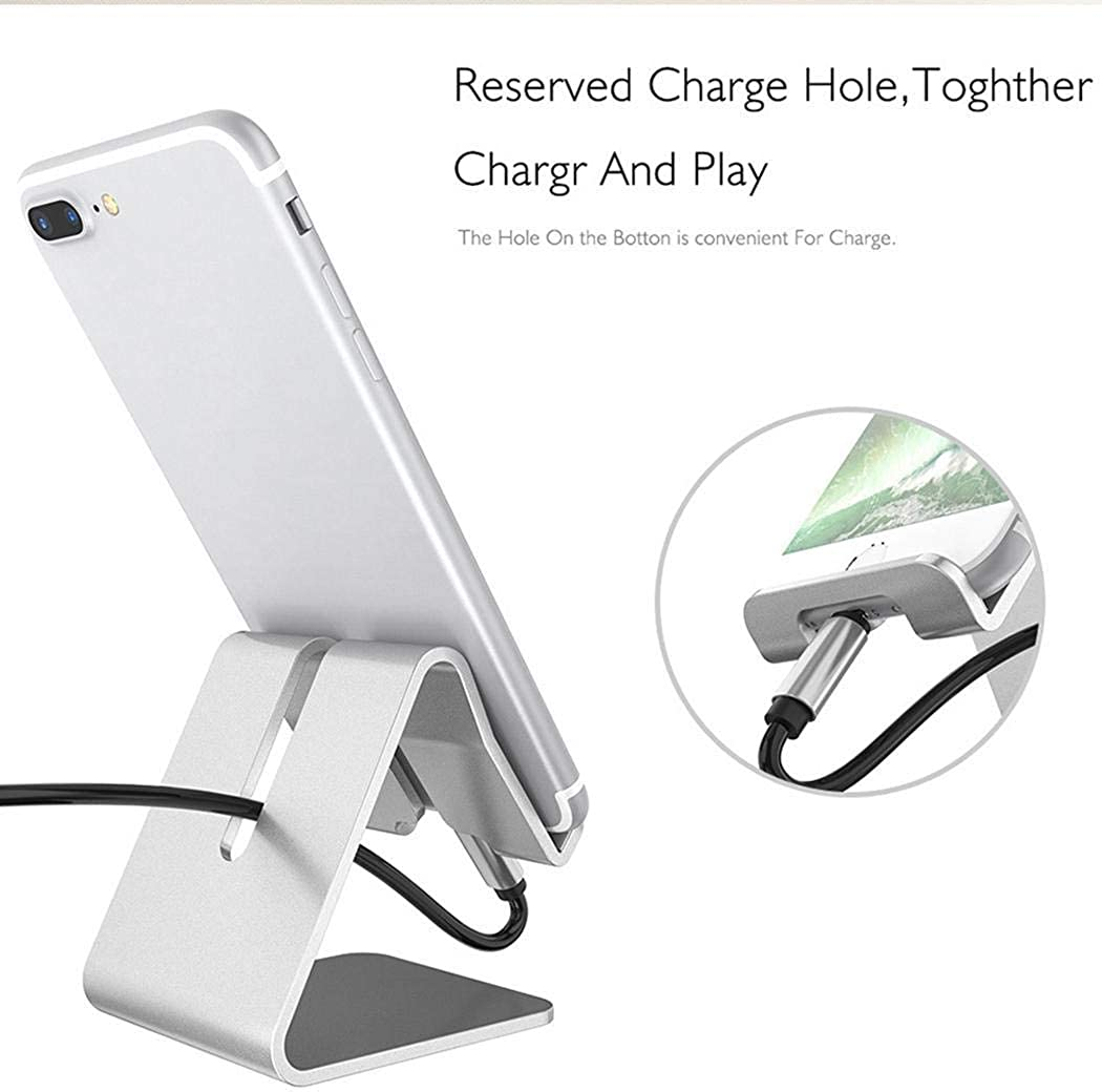 Erholi Portable With Charging Hole Mobile Phone Stand Desktop Phone Holder Stands