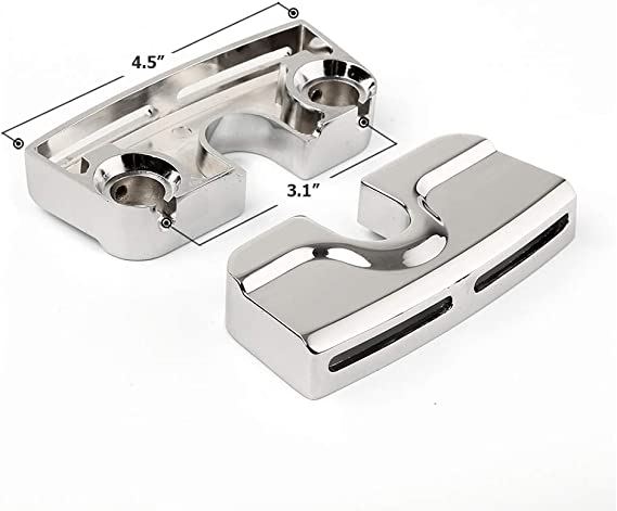 Triclicks Chrome Spark Plug Head Bolt Covers For Harley Dyna Fatboy Twin Cam Engines 1999-2017 Softail 2000-2017 Street Glide 2006-2017