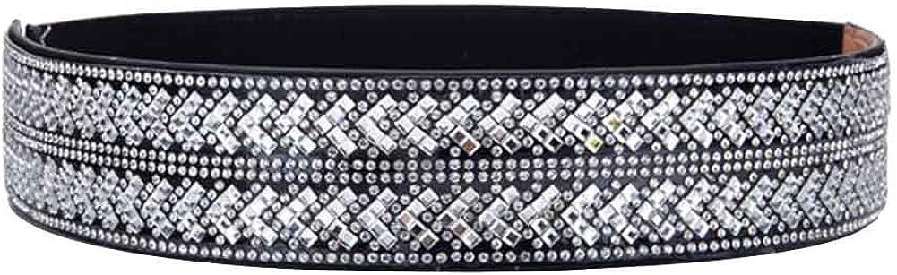 perfect for Latin Dance 72x3.8cm A Rhinestones Elastic Waist Belt