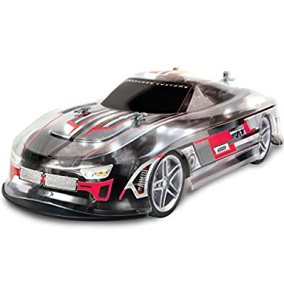 Sharper Image RC LED Lightning Thrasher Race Car Toy, Full Function Wireless Remote Control, 2.4 GHz for Multiple Vehicle Racing, Quick Speed High Performance Tires, Bright Lights for Nighttime: Toys & Games