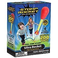 Stomp Rocket 20008 Ultra Rocket, 4 Rockets [Packaging May Vary], Rojo
