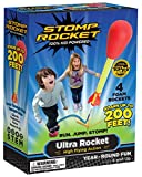 Stomp Rocket 20008 Ultra Rocket, 4 Rockets [Packaging May Vary], Red