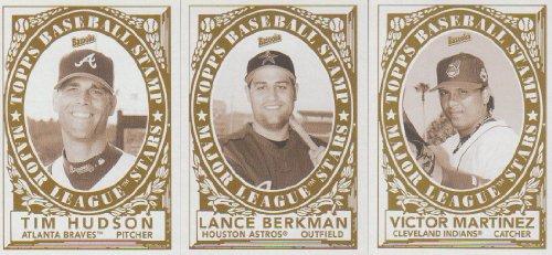 2006 Topps Bazooka Baseball Stamp 3 card Lot Victor Martinez #2,11,17