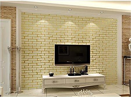 xzzj Non-woven cloth white brick-bedroom living room TV wallpaper ...