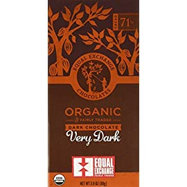 Equal Exchange Organic Very Dark Chocolate Bars, 2.8 Ounce (Pack of 12) 9 100% Fair Trade Organic Delicious