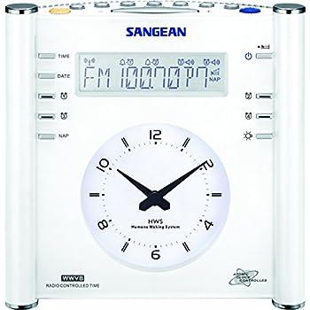 Image of Sangean RCR-3 AM/FM Atomic Digital/Analog Clock Radio (White)