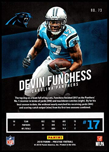 Amazon.com  2018 Prestige NFL  73 Devin Funchess Carolina Panthers Panini  Football Card  Collectibles   Fine Art 10ee67270