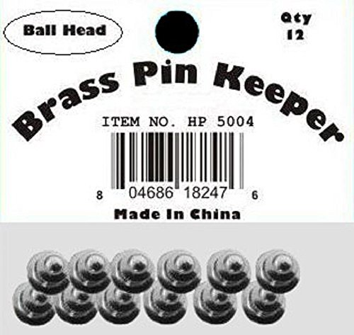 ALBATROS (60 Pieces) Pin Keepers Backs Locks Locking (Ball Head Silver) for Home and Parades, Official Party, All Weather Indoors ()