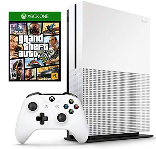 Xbox One S 1TB Console with Wireless Controller, 4K Blue Ray, and Grand Theft Auto V Bundle | Fulfilled by Etekdirect