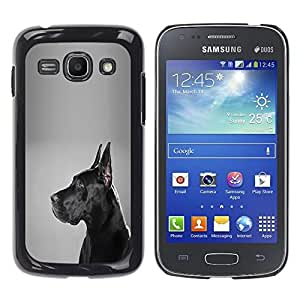Vortex Accessory Hard Protective Case Skin Cover For Samsung Galaxy Ace 3 ( Gt-S7270 / Gt-S7275 / Gt-S7272 ) - German Mastiff Black Dog Shorthair