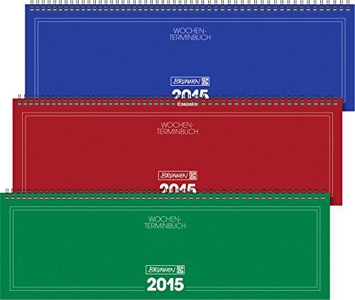 Brunnen Querkalender 775 Karton-Umschlag sortiert Kalendarium 2017