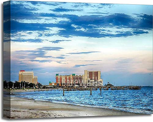 - Barewalls Biloxi Casinos and Buildings Gallery Wrapped Canvas Art (20in. x 24in.)