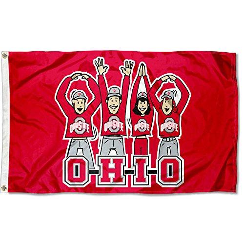 OSU Buckeyes Large OHIO Cheer 3x5 College Flag