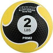 Champion Sports Rhino Elite Medicine Ball, Yellow Handle, 8-Feet