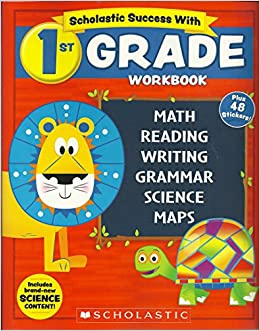 New 2018 Edition Scholastic 1st Grade Workbook With Motivational