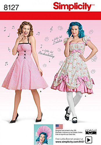 Simplicity Ladies Sewing Pattern 8127 Lolita & Rockabilly Dresses ...