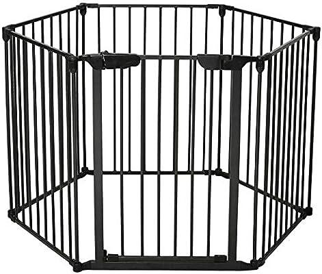 Protector de chimenea de metal, Reja de seguridad plegable, Rejilla de protección Rejilla para niños Reja de escalera Parque infantil Cuadrícula de configuración Protector de puerta Parque infantil: Amazon.es: Hogar