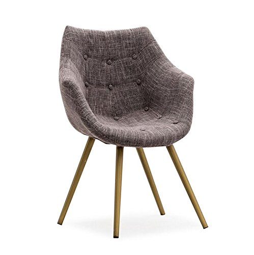 TOV Furniture The Finn Collection Mid-Century Modern Tweed Upholstered Chair with Steel Base, Grey (Modern Outdoor Furniture Overstock)