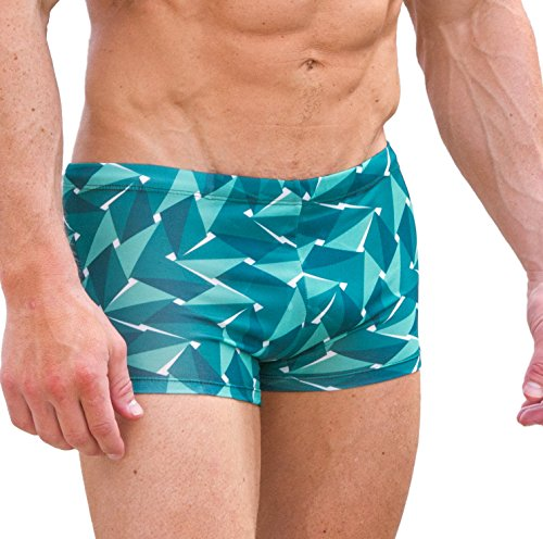 Cooltan Men's Sun Through Hipster Swim Shorts Emerald (Large) by Cooltan