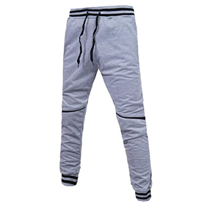 7022c0899d1fe8 Allywit Mens Cotton Zipper Sports Trousers Joggers Sweatpants Pants Big and  Tall: Amazon.in: Home & Kitchen