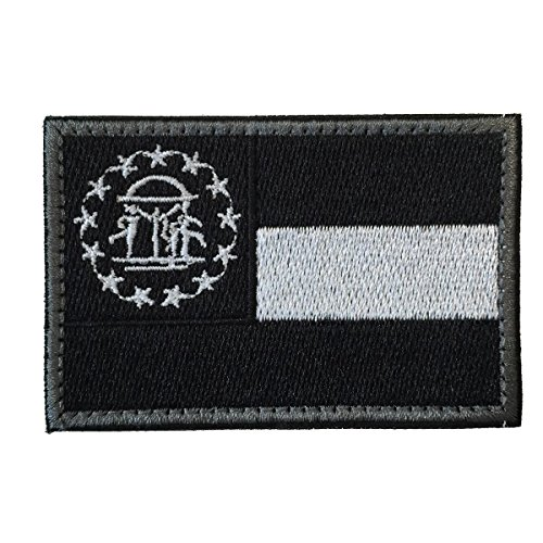 Portable Flag Packs (SpaceAuto Georgia State Flag Tactical Morale Patch Black)