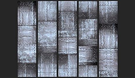 murando Papier Peint intiss/é PURO 10 m D/écoration Murale XXL Poster Tableaux Muraux Tapisserie Photo Panneau d/écoratif Photo sur le mur Trompe loeil m/étal marron f-A-0271-j-b