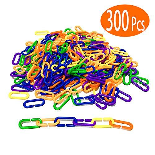 Tretree Linking Math Manipulatives Learning Toys - 300 Pcs Rainbow Mathlinks Counters - Kids Counting Toys Kindergarten Fine Motor Skills