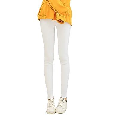656ff9ab7ae Amazon.com  Romacci Women Pencil Pants Casual Elastic Waist Skinny Trousers  Plus Size Solid Tights Stretch Leggings Slim Pants  Clothing