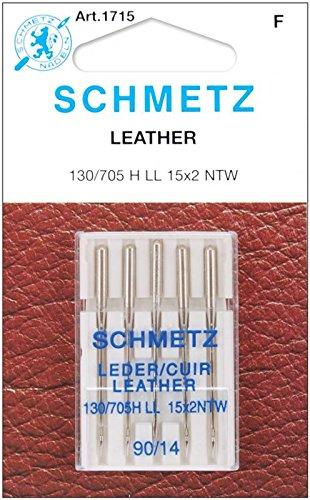 Leather Machine Needles-Size 14/90 5/Pkg Schmetz 1715
