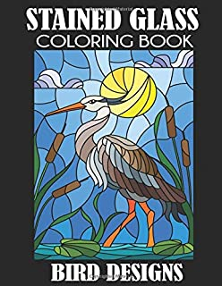 Amazon.com: Stained Glass Coloring Book: 30 Coloring Pages ...
