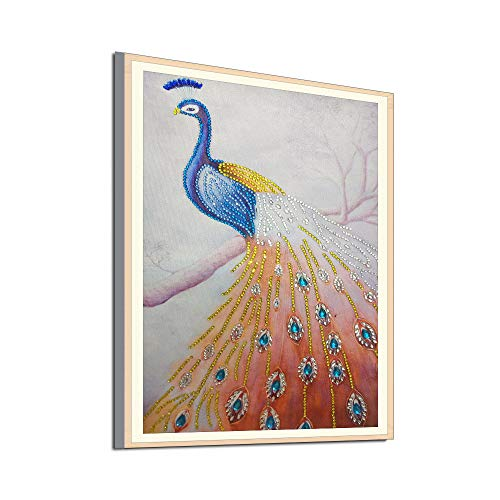 BeautyShe DIY 5D Diamond Painting by Number Kit for Adult, Full Drill Diamond Embroidery Dotz Kit Home Wall Decor-11.8 x 15 inch