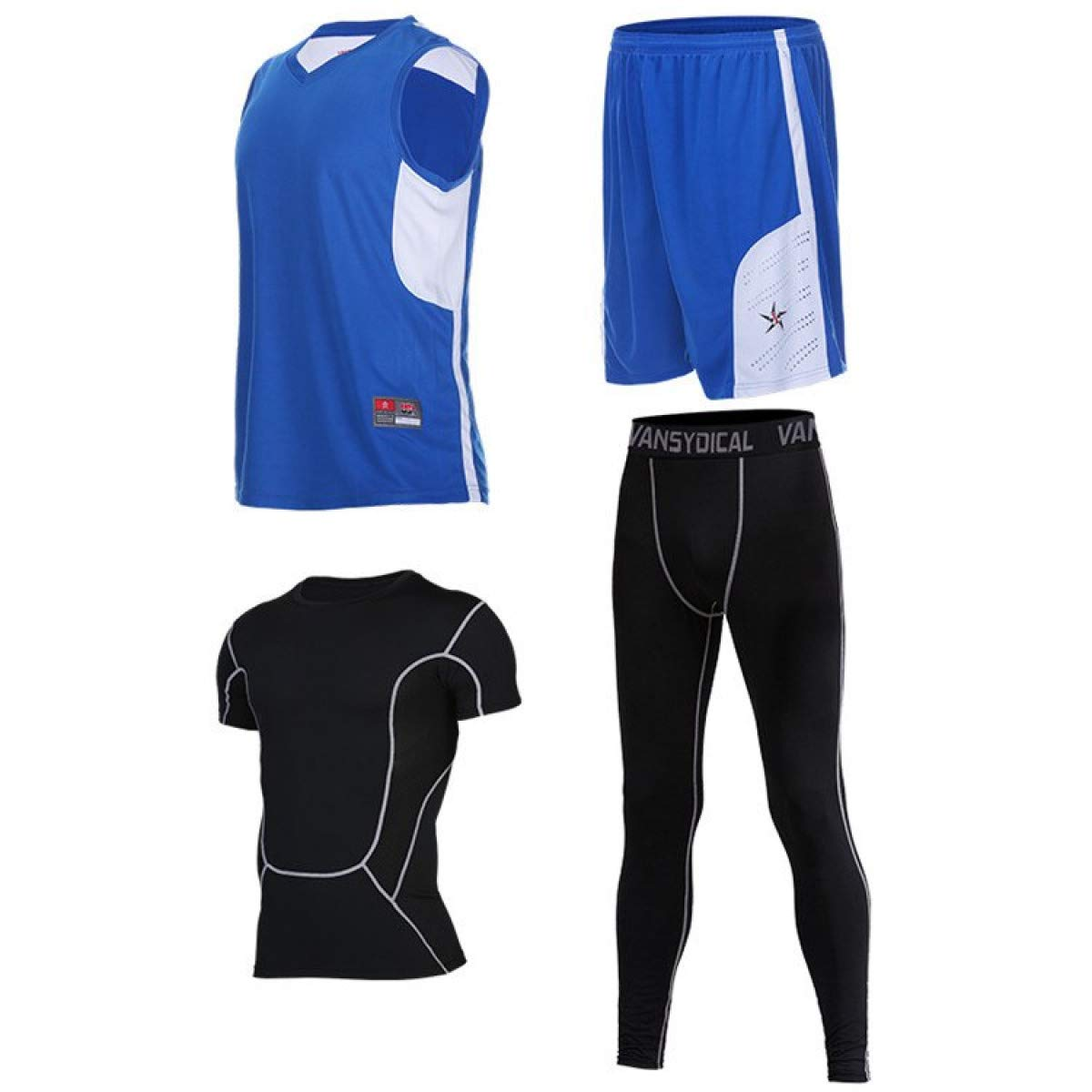 info for 7feae f7663 WEEKEND SHOP 4pcs Men's Basketball Training Suit Basketball ...