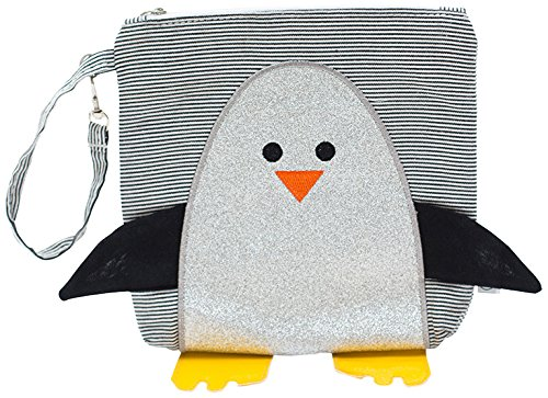 Palm Beach Crew My First Buddy Snack Bag Collection, Chili Silver Glitter Penguin
