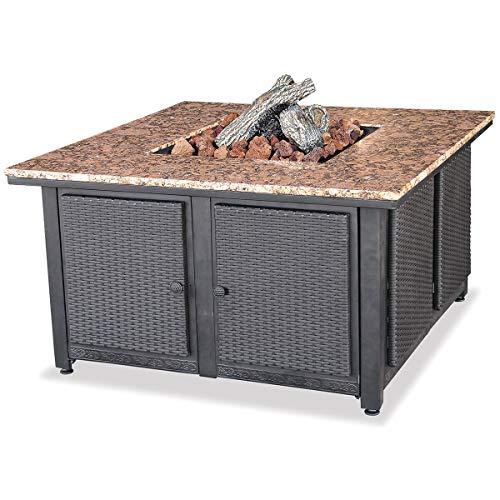 Uniflame Endless Summer, GAD1200B, LP Gas Outdoor Firebowl with Granite - Outdoor Firebowl Uniflame