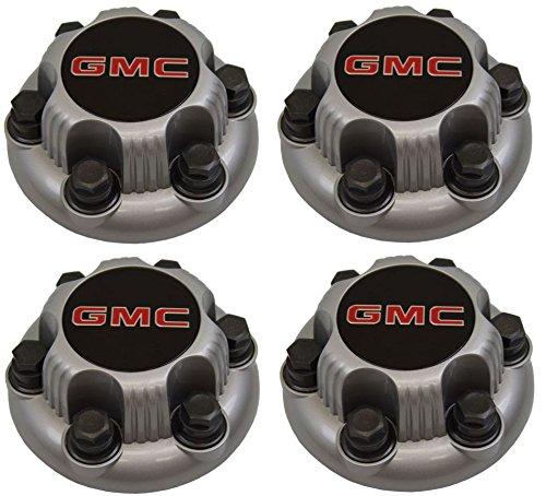REPLACEMENT PART: Set of 4 SILVER GMC Sierra Yukon Savana 6 Lug 1500 Center Caps 16
