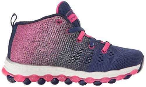 Skechers Kids Air Athletic Sneaker (Little Kid/Big Kid) Navy/Hot Pink