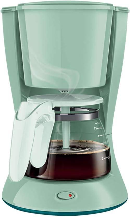 DGYAXIN Cafetera Goteo, Cafetera Americana/Sistema antigoteo/Producción con un Solo botón/Filtro extraíble/600ml/640 W/Oficina en casa,Verde: Amazon.es: Hogar