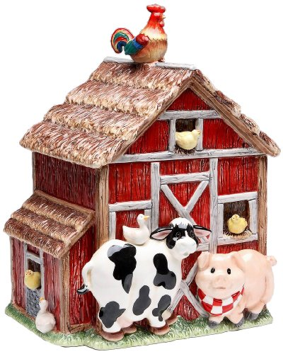 Appletree Design Barn Yard Cookie Jar, 10-3/8-Inch ()