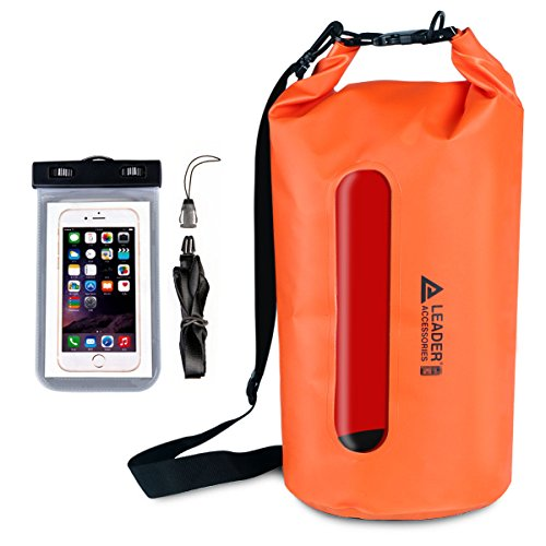 Galleon - Leader Accessories Waterproof PVC Dry Bag With Clear Window And  Phone Case For Boating Camping Kayaking Fishing Swimming  Floating(15L de1c7fca4a39a