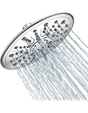 SR SUN RISE 8.5 Inch Large Rain Shower Head High Pressure, Luxury Modern Chrome Rainfall Shower Head, High Flow Round Waterfall Shower Head Angle Adjustable for Bathroom, Easy Tool-Free Installation