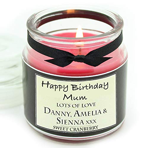 Luxury Personalised scented candle with the text of your choice