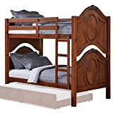 ACME 37005 Classique Twin/Twin Bunk Bed, Cherry Finish